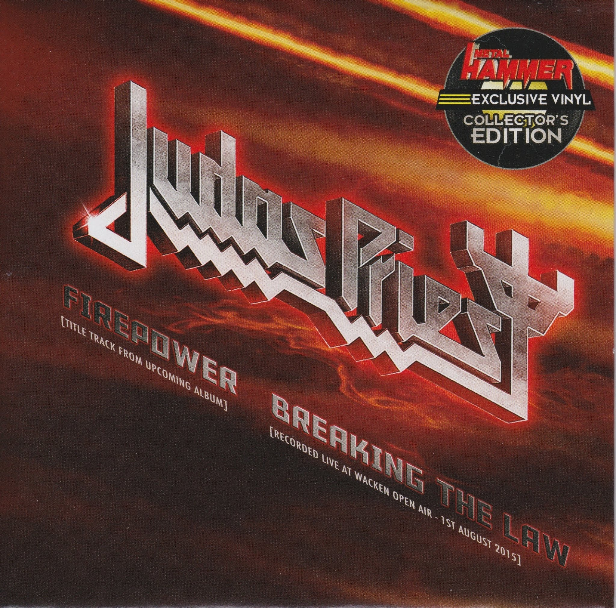 Judas Priest — Firepower / Breaking the Law 7″ (2018)